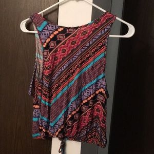 Charlotte Russe Tops - Patterned cotton tank top